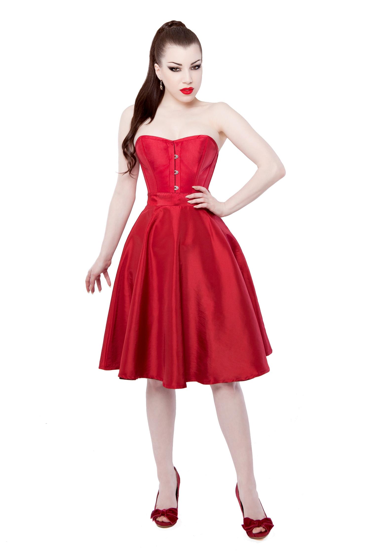 Playgirl Red Tafetta Circle Skirt