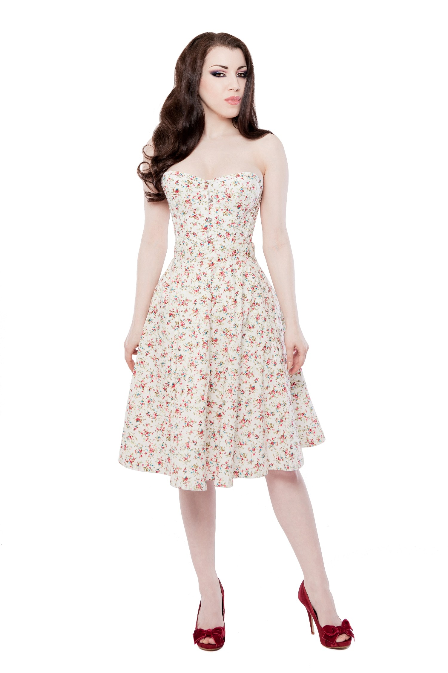Playgirl Ivory Floral Circle Skirt