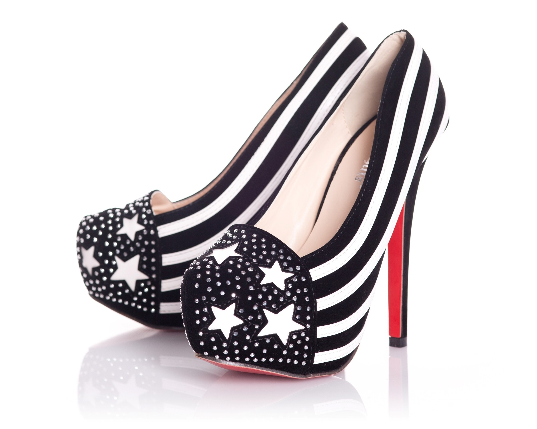 Playgirl Stars & Stripes Shoes In Black & White