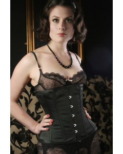 Kinnaird Ireland Waist Cinching Satin Under The Bust Black Trixi Corset