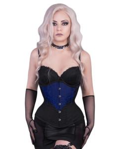 Burlesque Blue Steel Boned Corset