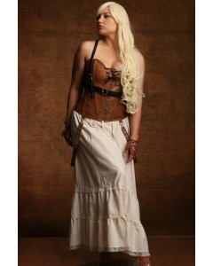 Daenerys Game of Thrones Steel Boned Tan Leather Corset