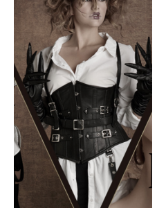 Edward Scissorhands Underbust Leather Corset