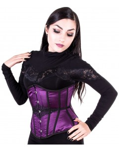 Intense Violet Steel Boned Corset
