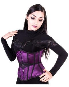 Intense Violet Steel Boned Corset