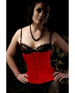 Kinnaird Ireland Waist Cinching Satin Under The Bust Rouge Trixi Corset