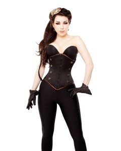 Kinnaird Duchess Satin Lilah Steel Boned Corset With Detachable Removable Panel