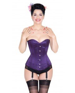 Kinnaird Ireland Pure Silk Indigo Colour Dita Steel Boned Corset