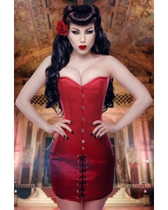 Kinnaird Ireland Rouge Duchess Satin Steel Boned Mini Corset Dress