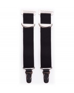 Pair Of Wide Black High Quality Metal Suspenders