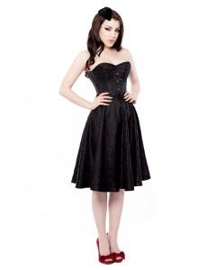 Black Floral Corset Dress