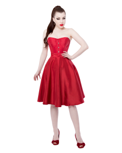 The Lady In Red Corset Dress