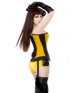 Playgirl Yellow & Black Silk Spectre Shorts