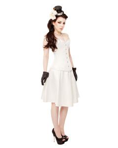 Ivory Duchess Satin Corset Dress