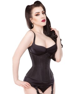 Playgirl Black Under The Cup Support Corset Cincher