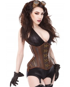 Curvella Full Hips Steampunk Waist Training Corset