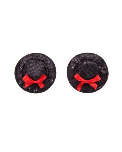 Black Top Hat Nipple Pasties