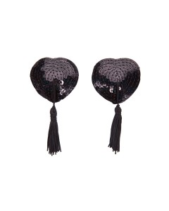 Black Sequin Nipple Tassels