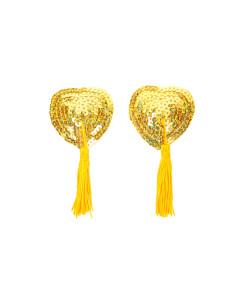 Gold Sequin Nipple Tassels