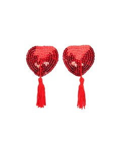 Red Sequin Nipple Tassels