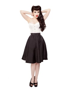 Playgirl Black Tafetta Circle Skirt