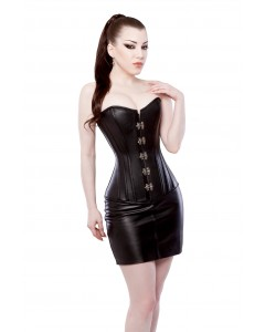 Playgirl Playgirl Black Cowhide Leather Skirt