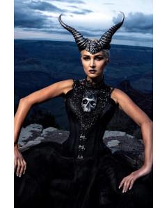 Maleficent Leather Steel Boned Corset