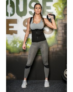 Playgirl Black Weight Loss ThermaFitPrene Hot Waist Trimmer Vest