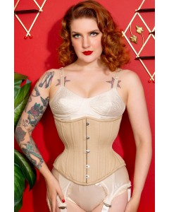 Artemis Corset Designed by Lucy's Corsetry Hourglass Silhouette in Nude