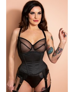 Buskless Steel Boned Waist Cincher Corset