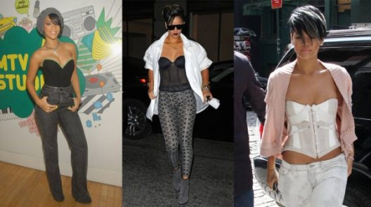 Rihanna - The Queen of the Corset? - 7 April 2010