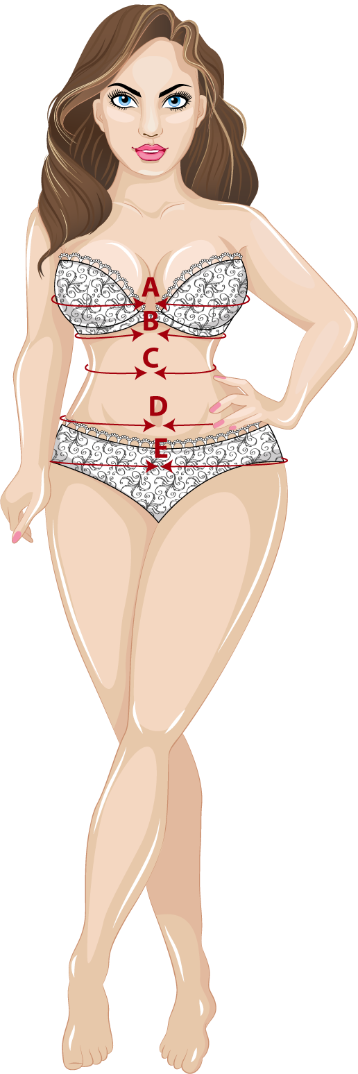 A visual illustration of how to measure your body for a corset