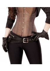 Black Taffeta Corset Belt with Pockets