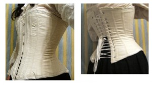 white shirt-corset